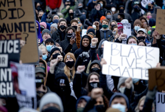 BLM protests continue for second day over officer-involved shooting in Minn.