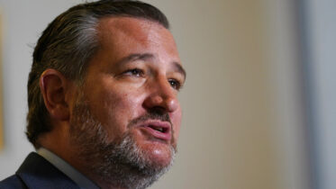 Sen. Ted Cruz, R-Texas, talks about legislation to end Major League Baseball's special immunity from antitrust laws during a news conference on Capitol Hill in Washington, Tuesday, April 13, 2021. (AP Photo/Susan Walsh)