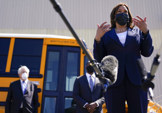 Kamala Harris pushes for B in infrastructure funding to go to electric school buses