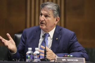 Sen. Joe Manchin, D-WV., speaks during a Senate Appropriations Committee hearing to examine the American Jobs Plan, focusing on infrastructure, climate change, and investing in our nation's future on Tuesday, April 20, 2021 on Capitol Hill in Washington. (Oliver Contreras/The Washington Post via AP, Pool)