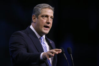 FILE - In this Sept. 7, 2019, file photo, Rep. Tim Ryan, D-Ohio, speaks during the New Hampshire state Democratic Party convention in Manchester, N.H. Ryan, a 10-term representative from Ohio's blue-collar Mahoning Valley, officially launched his bid Monday, April 26, 2021, for a coveted open Senate seat in Ohio. He becomes the Democratic frontrunner as the party goes after Republican Rob Portman's seat in what stands to be one of 2022's most closely watched Senate contests.(AP Photo/Robert F. Bukaty, File)