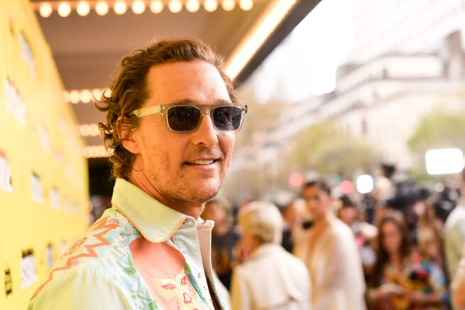 """AUSTIN, TEXAS - MARCH 09: Matthew McConaughey attends the """"The Beach Bum"""" Premiere 2019 SXSW Conference and Festivals at Paramount Theatre on March 09, 2019 in Austin, Texas. (Photo by Matt Winkelmeyer/Getty Images for SXSW)"""