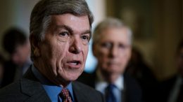 WASHINGTON, DC - APRIL 30: Senator Roy Blunt (R-MO) speaks to the media following their weekly policy luncheon on April 30, 2019 in Washington, DC. Congress is back in session this week after a two week spring break. (Photo by Pete Marovich/Getty Images)
