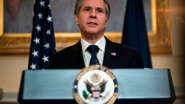 US Secretary of State Antony Blinken delivers remarks about priorities for administration of US President Joe Biden in the Ben Franklin room at the State Department in Washington, DC on March 3, 2021. (Photo by ANDREW CABALLERO-REYNOLDS / POOL / AFP) (Photo by ANDREW CABALLERO-REYNOLDS/POOL/AFP via Getty Images)