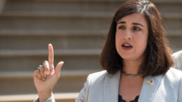 NEW YORK, NY - JULY 19: Nicole Malliotakis, Republican New York City mayoral candidate, speaks during a press conference outside City Hall, July 19, 2017 in New York City. She discussed what she described as 'the lack of transparency surrounding Mayor de Blasio's travel expenses.' (Photo by Drew Angerer/Getty Images)