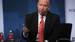 WASHINGTON, DC - NOVEMBER 03: Chairman of House Ways and Means Committee Rep. Kevin Brady (R-TX) (R) speaks during an event at the Newseum November 3, 2017 in Washington, DC. Rep. Brady participated in a Politico Playbook interview on congressional efforts on tax reform. (Photo by Alex Wong/Getty Images)