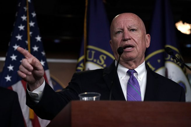WASHINGTON, DC - JUNE 20: U.S. House Ways and Means Committee Chair Kevin Brady (R-TX) speaks during a news conference June 20, 2018 on Capitol Hill in Washington, DC. House Republicans held a conference meeting to discuss immigration. (Photo by Alex Wong/Getty Images)