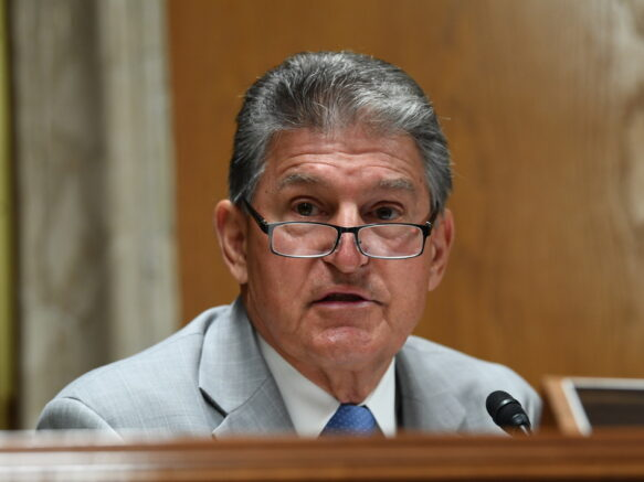 Sen. Joe Manchin, D-W.Va., helped craft the bipartisan proposal. (Toni Sandys/Pool/The Washington Post via AP)