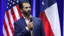 In this Oct. 15, 2019, photo, Donald Trump Jr. speaks to supporters of his father, President Donald Trump, during a panel discussion in San Antonio. Trump Jr.'s appearance Sunday, Nov. 10, at the University of California, Los Angeles, to talk about his new book on liberals and free speech was marked by an argument between him and the audience over why he would not take questions, the Guardian newspaper reported. (AP Photo/Eric Gay)