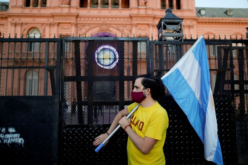 FILE PHOTO: Protest against COVID-19 lockdown measures in Buenos Aires