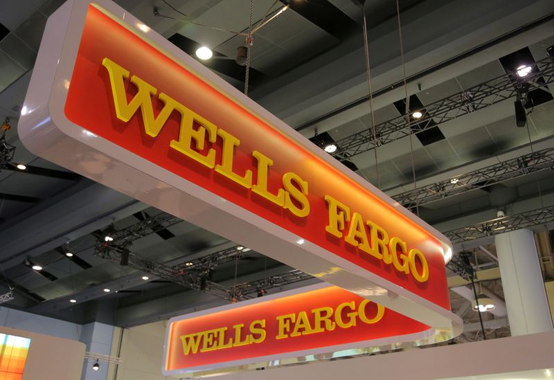 FILE PHOTO: A Wells Fargo logo is seen at the SIBOS banking and financial conference in Toronto