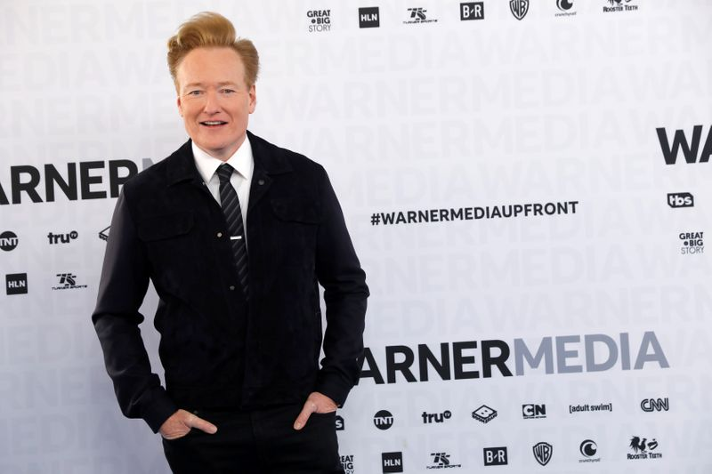 FILE PHOTO: Comedian Conan O'Brien poses as he arrives at the WarnerMedia Upfront event in New York