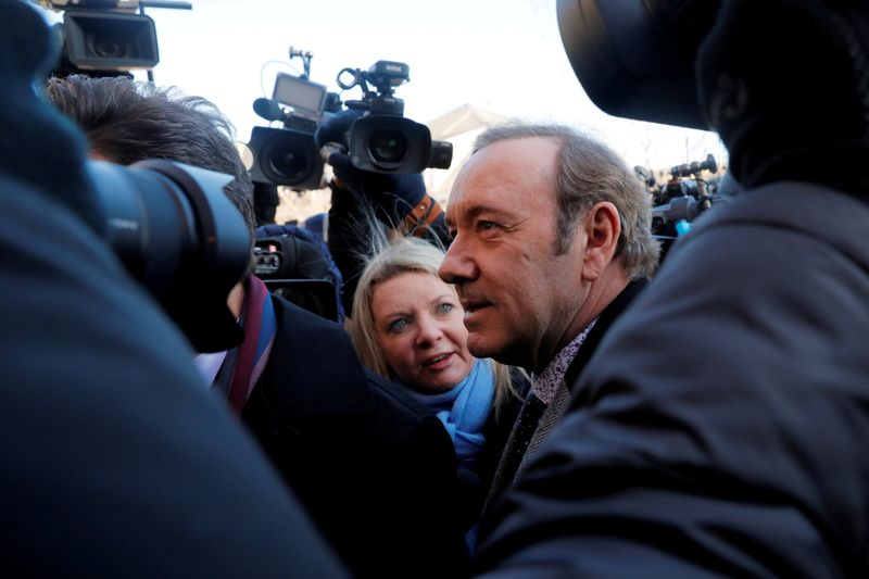 FILE PHOTO: Actor Spacey arrives to face a sexual assault charge at Nantucket District Court