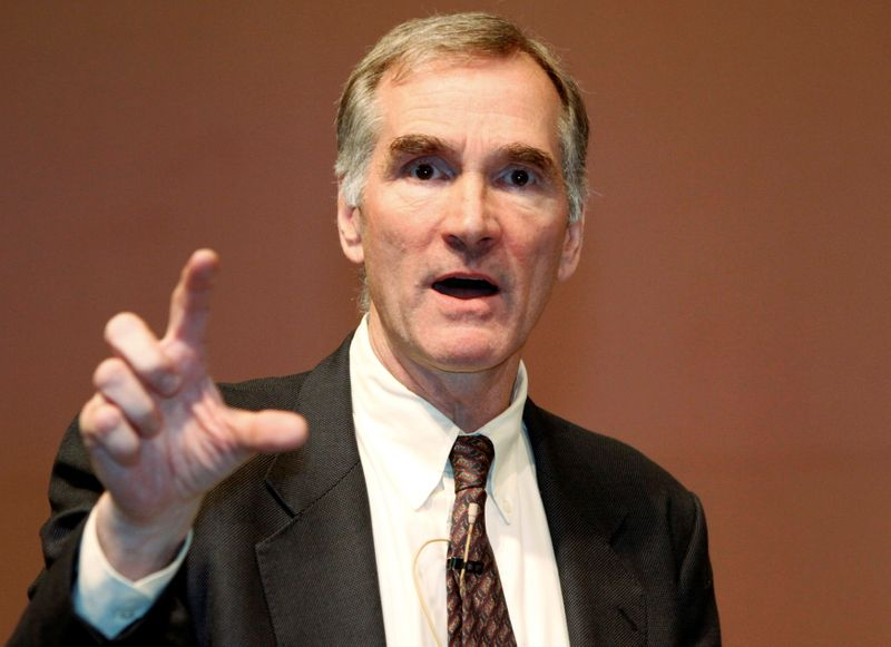 FILE PHOTO: David Swensen, Yale University Chief Investment Officer, speaks during an asset management forum in Seoul