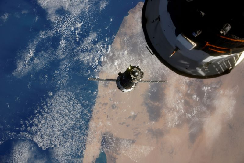 FILE PHOTO: The Soyuz MS-17 spacecraft is seen before docking to Rassvet module of the International Space Station (ISS) in 2020