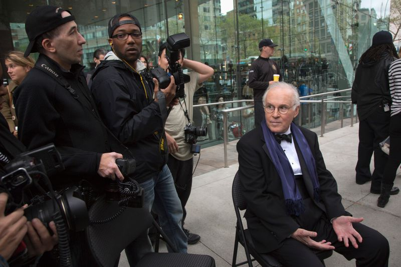 Actor Charles Grodin speaks to media as he attends the world premiere of the film