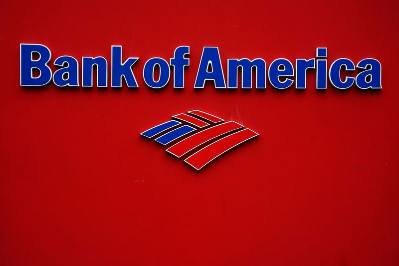 FILE PHOTO: A Bank of America logo is pictured in the Manhattan borough of New York City
