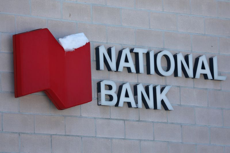 The National Bank of Canada logo is seen outside of a branch in Ottawa