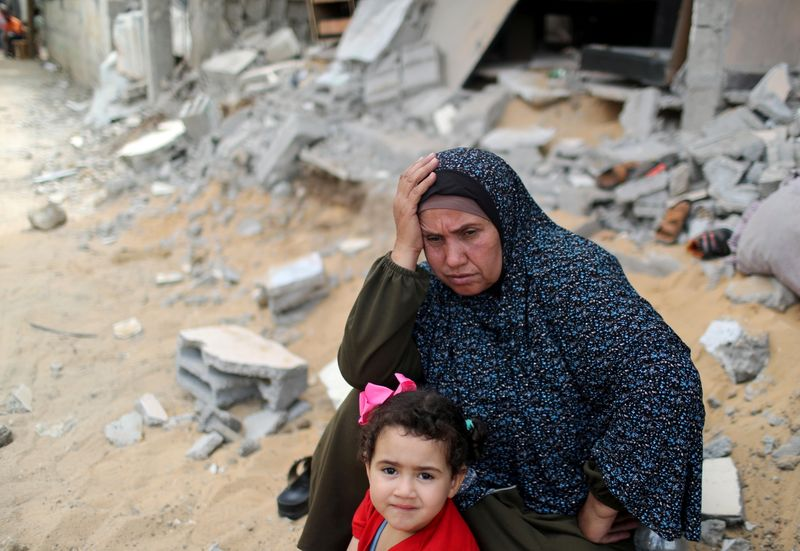 FILE PHOTO: Israel and Hamas cease fire across the Gaza Strip
