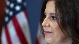 Newly-elected House Republican Conference Chair Rep. Elise Stefanik, R-N.Y., pauses while speaking with reporters, on Capitol Hill Friday, May 14, 2021, in Washington. Republicans voted Friday morning for Stefanik to be the new chair for the House Republican Conference, replacing Rep. Liz Cheney, R-Wyo., who was ousted from the GOP leadership for criticizing former President Donald Trump. (AP Photo/Alex Brandon)