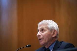 Dr. Anthony Fauci, director of the National Institute of Allergy and Infectious Diseases, speaks during a Senate Appropriations Subcommittee looking into the budget estimates for National Institute of Health (NIH) and the state of medical research, Wednesday, May 26, 2021, on Capitol Hill in Washington. (Sarah Silbiger/Pool via AP)