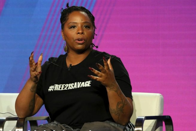 Patrisse Cullors, the co-founders of Black Lives Matter, is pictured. (Willy Sanjuan/Invision/AP Photo)