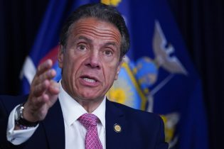 FILE - New York Gov. Andrew Cuomo speaks during a news conference, Monday, May 10, 2021 in New York. Cuomo disclosed Monday, May 17, 2021 that he was paid a $3.1 million advance to write his COVID-19 leadership book last year and under his publishing contract will make another $2 million on the memoir over the next two years. (AP Photo/Mary Altaffer, Pool)