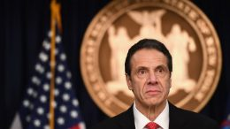 """New York Governor Andrew Cuomo speaks during a press conference to discuss the first positive case of novel coronavirus or COVID-19 in New York State on March 2, 2020 in New York City. - Governor Andrew Cuomo said March 2, 2020 he expects the new coronavirus is spreading in New York, a global hub of commerce and finance, as it deals with its first confirmed case.""""I've been saying for many days, it's not if but when. We're New York. This is a global situation,"""" he said on CNN.The city's first confirmed coronavirus case was detected in a health care worker, a 39-year-old woman who tested positive after returning from Iran. (Photo by Angela Weiss / AFP) (Photo by ANGELA WEISS/AFP via Getty Images)"""