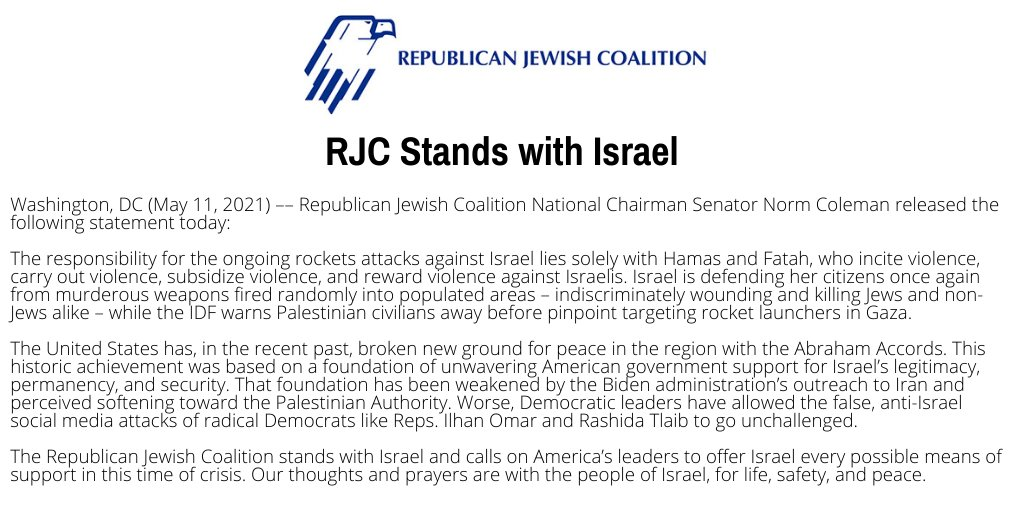 (Official RJC statement)