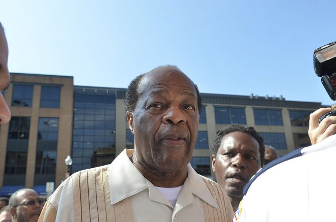 WASHINGTON, DC - AUGUST 22: Marion Barry attends the 55th Anniversary of Ben's Chili Bowl on August 22, 2013 in Washington, DC. (Photo by Kris Connor/Getty Images)