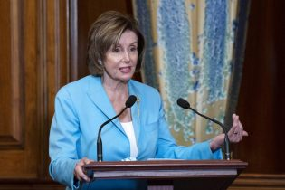 Speaker of the House Nancy Pelosi, D-Calif., speaks during the signing ceremony of the COVID-19 Hate Crime Act, on Capitol Hill in Washington, Wednesday, May 19. 2021. (AP Photo/Jose Luis Magana)