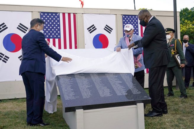 Construction begins on Wall of Remembrance for Korean War veterans