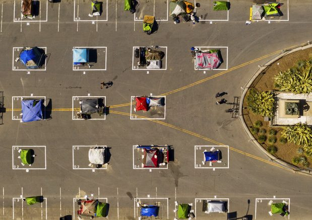 Report: Trailers meant to house Calif. homeless sitting unused in parking lots