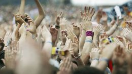 KINROSS, UNITED KINGDOM - JULY 09: The hands of music lovers enjoy the festival of sound at ?T In The Park 2005? at Balado on July 9, 2005 at Kinross, Scotland. (Photo by Christopher Furlong/Getty Images)