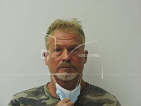Photo provided by Chaffee County Sheriff's Office shows Barry Morphew, arrested in connection with the disappearance of his wife, Suzanne Morphew, as the result of an ongoing investigation. (Chaffee County Sheriff's Office via AP)