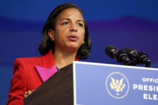 Susan Rice, the Biden Administration's choice to lead the White House Domestic Policy Council, speaks during an event at The Queen theater. (AP Photo/Susan Walsh)