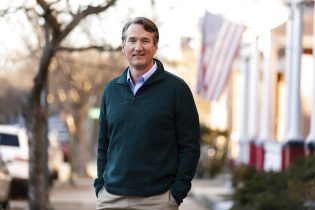 This Jan. 10. 2021 image provided but the Youngkin for Governor campaign shows Glenn Youngkin in Richmond, Va. The GOP gubernatorial candidate will be chosen during the party's May 8 nominating convention. (Kate Magee Joyce/Youngkin for Governor Campaign via AP)