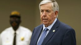 Missouri Gov. Mike Parson speaks during a news conference in St. Louis. Gov. Parson, a Republican who has steadfastly refused to require residents to wear mask, and First Lady Teresa Parson tested positive for COVID-19, Wednesday, Sept. 23, 2020. (AP Photo/Jeff Roberson, File)