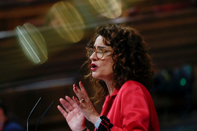 Spain's Treasury Minister Maria Jesus Montero attends a session at Parliament in Madrid