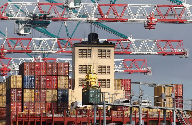 FILE PHOTO: Containers are pictured at the San Antonio port