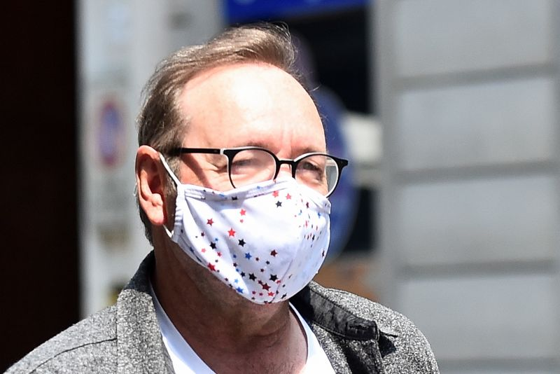 Actor Kevin Spacey is seen in Turin