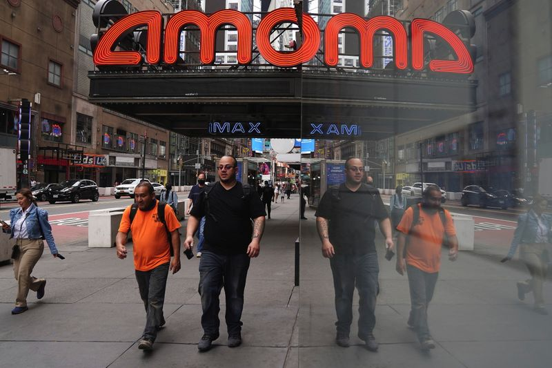 FILE PHOTO: An AMC theatre is pictured in Times Square in New York City