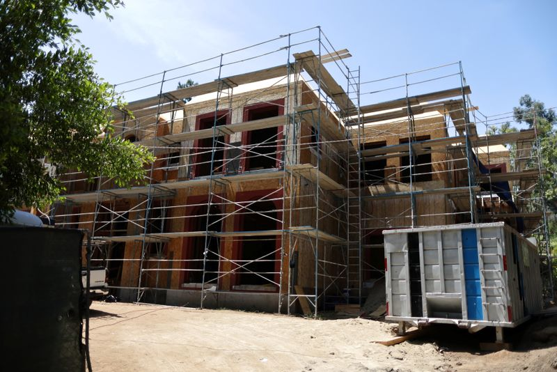 A new housing construction is seen as real estate prices rise in Beverly Hills
