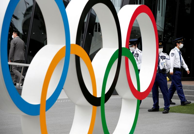 FILE PHOTO: Anti-Olympics protest in Tokyo