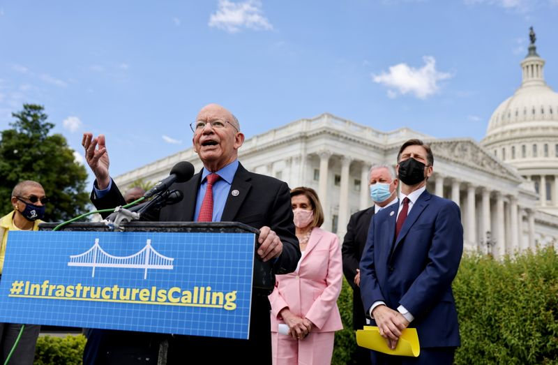 News conference on infrastructure on Capitol Hill in Washington