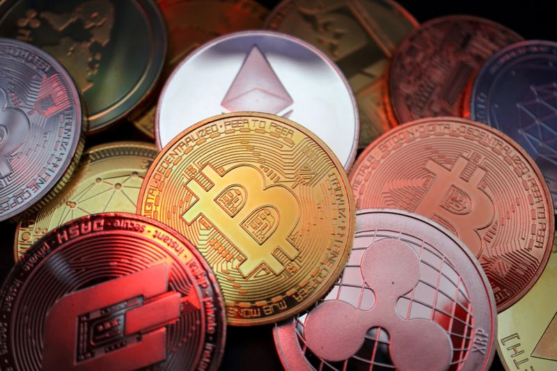 FILE PHOTO: Illustration picture of cryptocurrencies