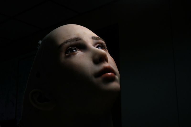 Humanoid robot Grace, developed by Hanson Robotics, is seen at the company's lab in Hong Kong