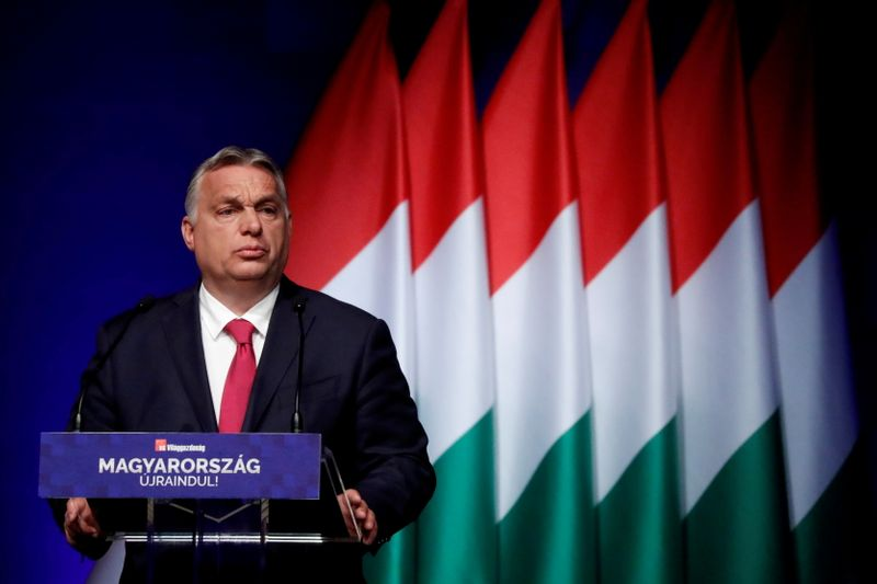 Hungarian PM Orban attends a business conference in Budapest