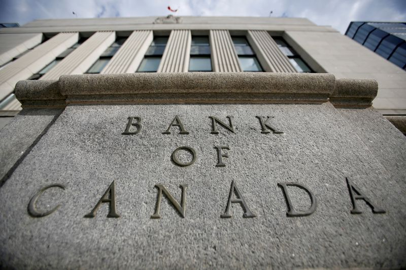 FILE PHOTO: A sign is pictured outside the Bank of Canada building in Ottawa