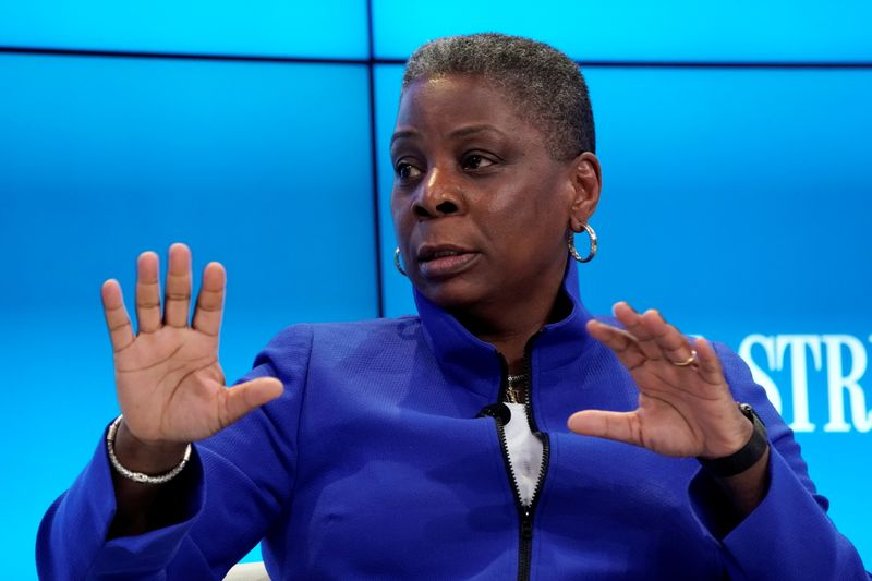 FILE PHOTO: Ursula Burns, longtime Exxon Mobil board member, attends the World Economic Forum (WEF) annual meeting in Davos